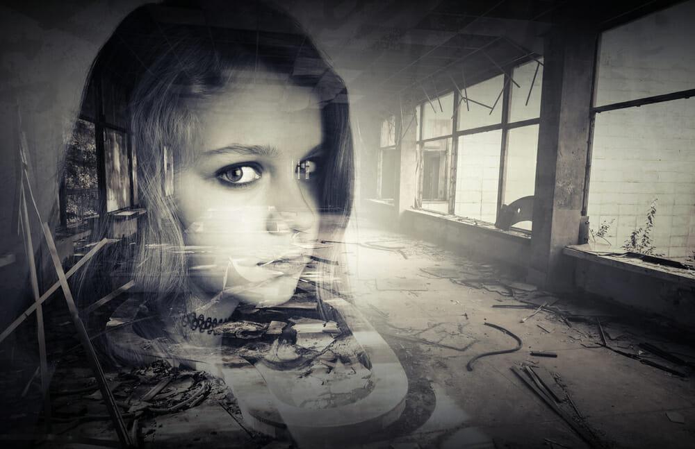iphotography multiple exposure camera screen profile portrait girl