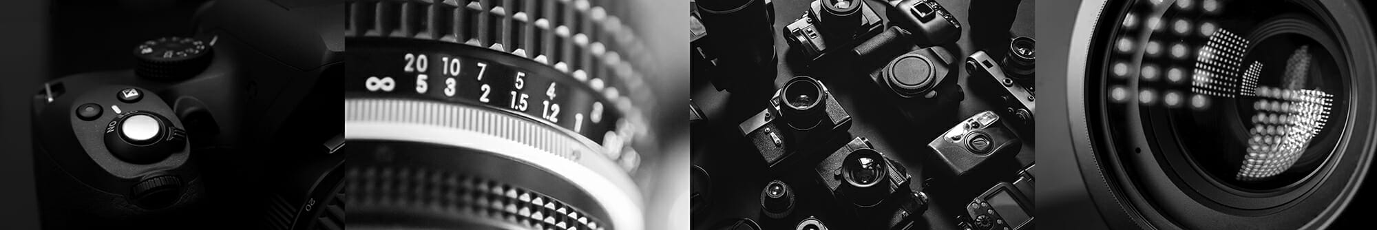 black and white camera close up vintage aperture ring digital dslr lens glass photography