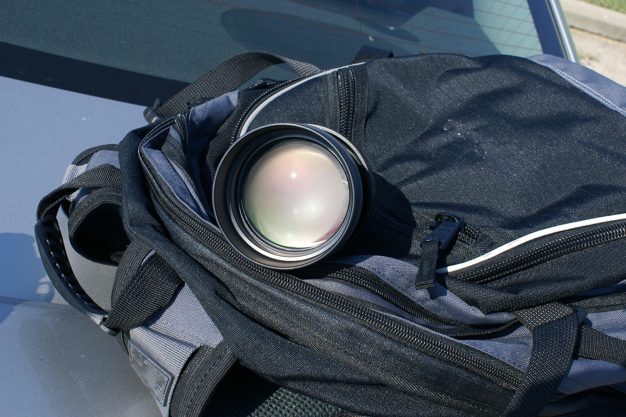 camera condensation lens cold bag