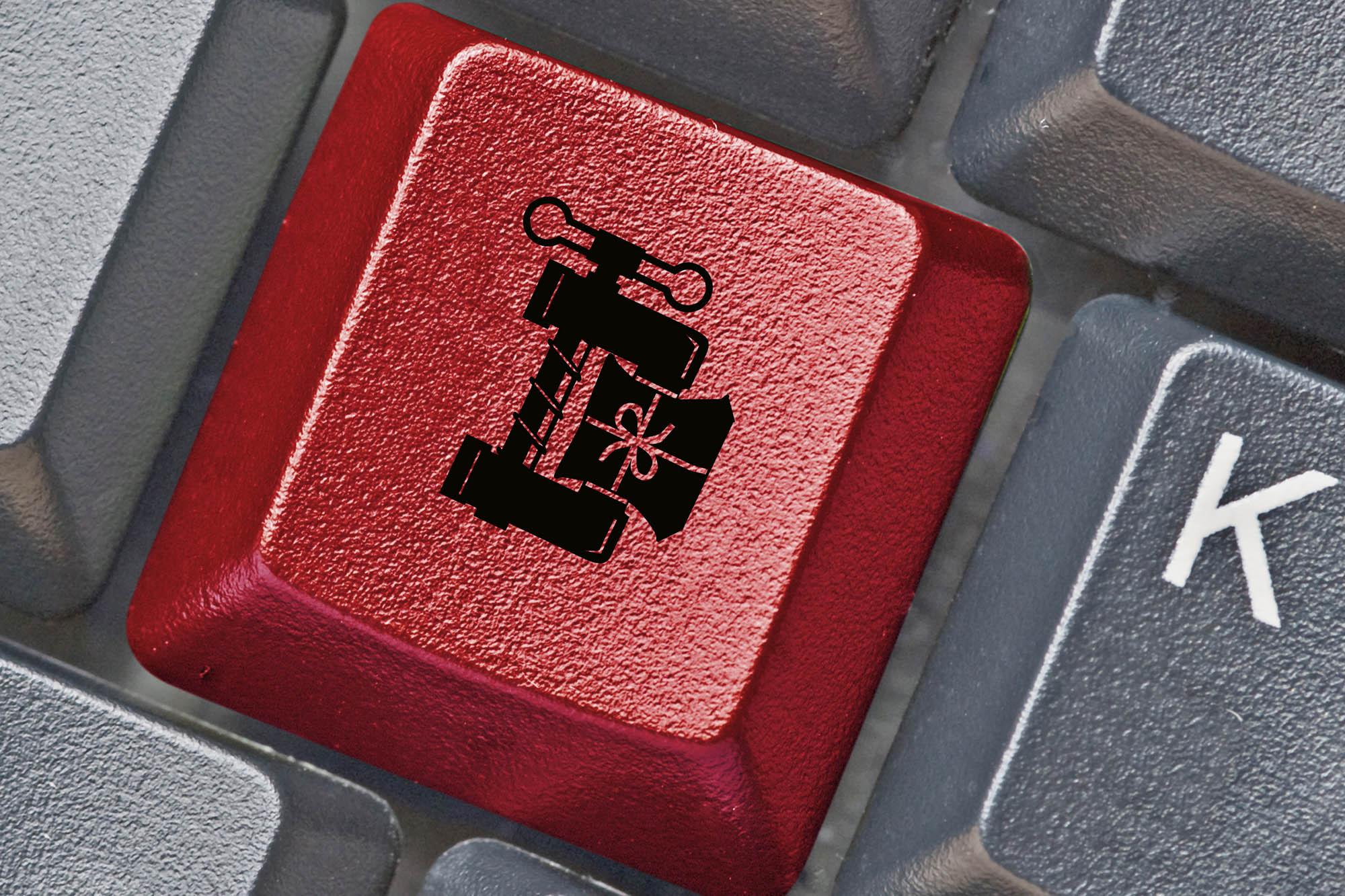 button compression keyboard red icon symbol file