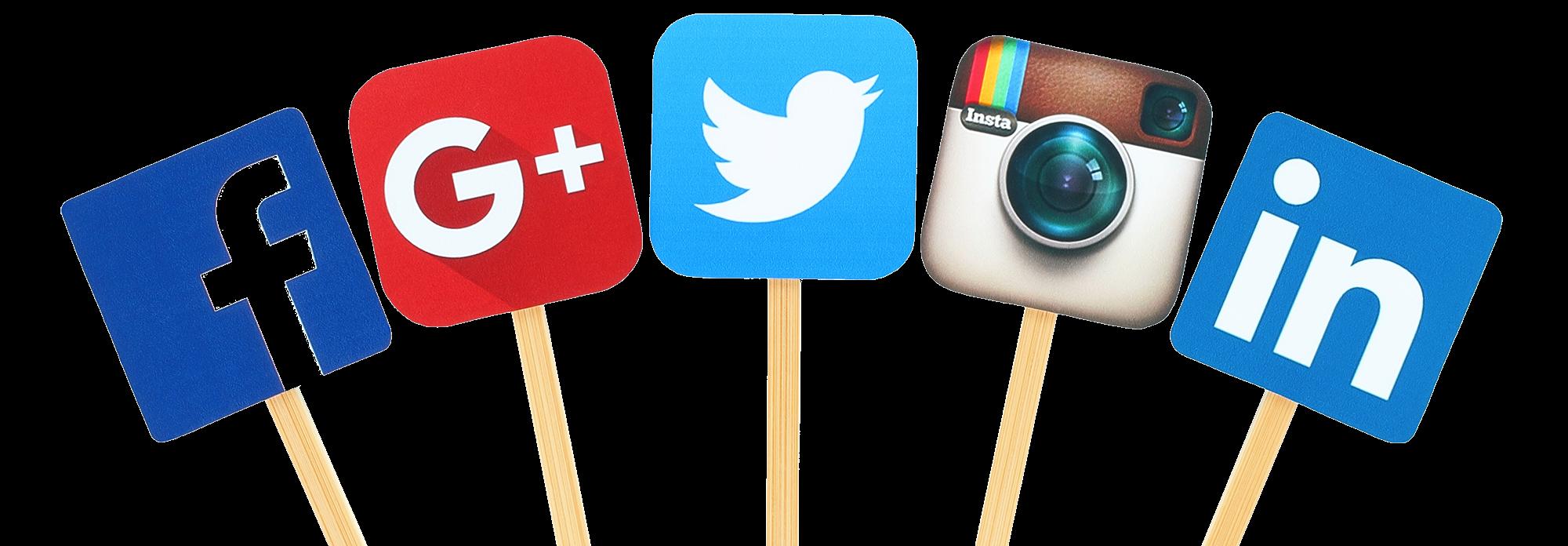 facebook google twitter instagram pinterest social media icons
