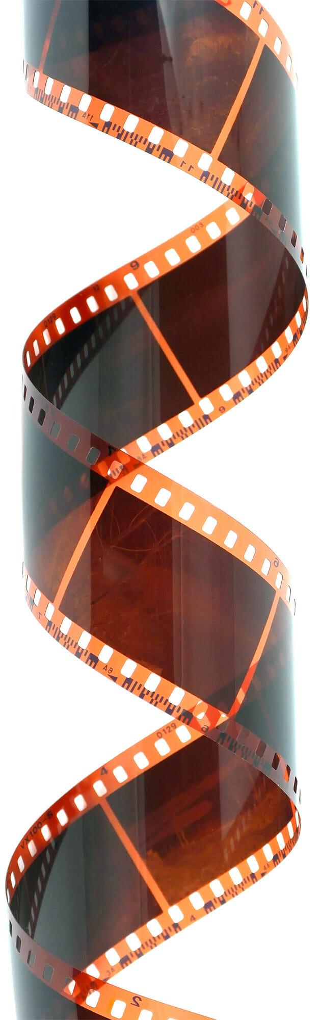film reel twisted hollywood movie style tape