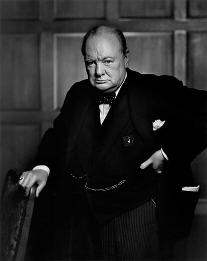 Iconic: Winston Churchill by Yousuf Karsh (1941)