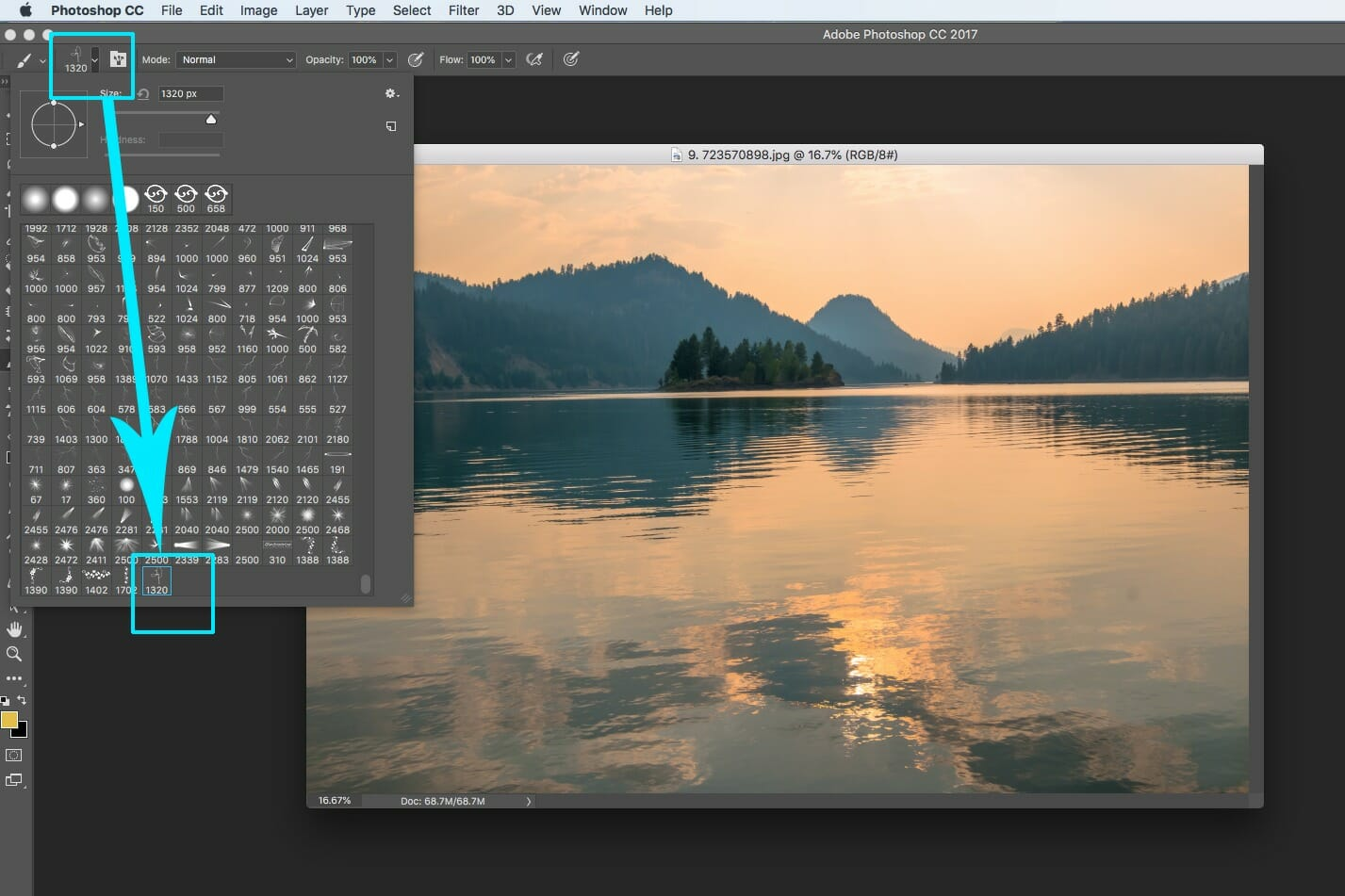 photoshop landscape photography editing