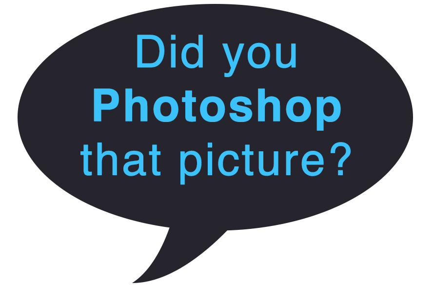 did you photoshop that picture iphotography speech bubble?