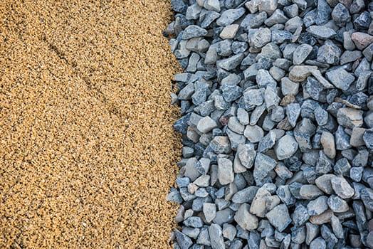 sand rocks stones contrasting textures