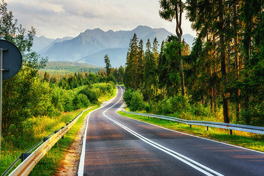 leading lines, roads, highway, landscape, green, tarmac, photo walk