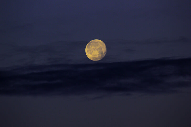 astrophotography moon sky blue yellow photography