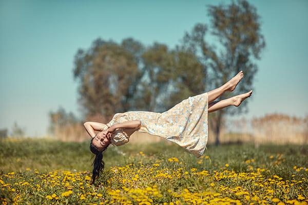 model levitation photography floating field