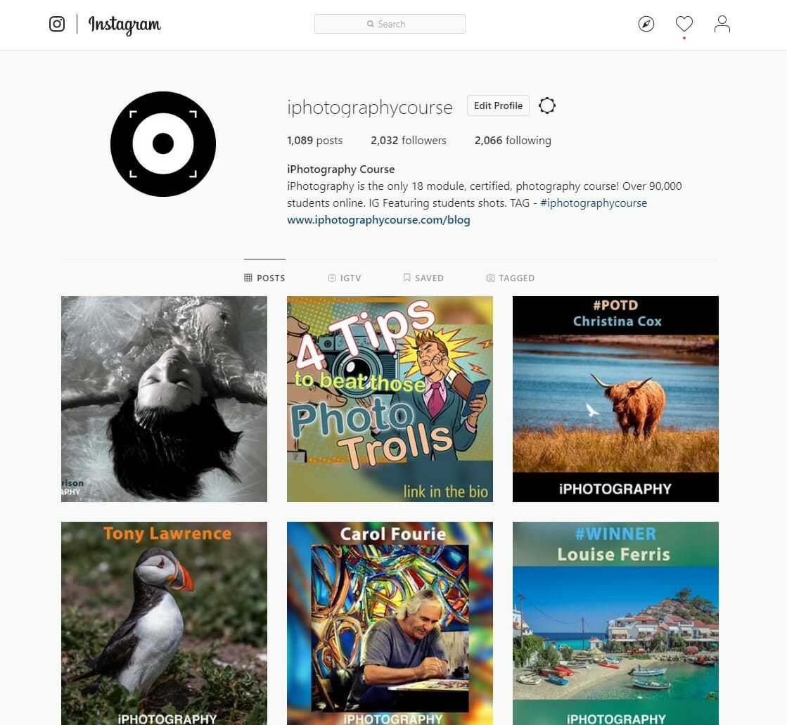 instagram feed iphotography photography tips screenshot